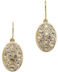 Elizabeth And James Constance Earrings White Topaz Gold - Lyst