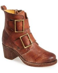 Frye 'Sabrina' Double Buckle Bootie - Lyst