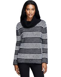 Brooks Brothers Angora Wool Cowl Neck Sweater - Lyst