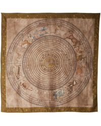 Valentino Astral Chart Double Sided Twill Scarf - Lyst