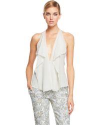 Donna Karan New York Sleeveless Petal Blouse - Lyst
