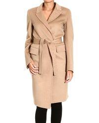 Saint Laurent Coat Woman - Lyst