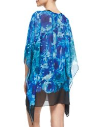 Carmen Marc Valvo - The Blooms Floral-print Georgette Coverup - Lyst