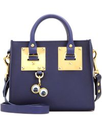Sophie Hulme Leather Box Tote - Lyst