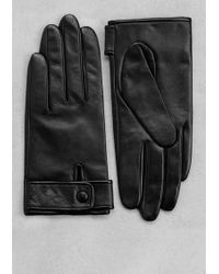 & Other Stories - Strap Leather Gloves - Lyst