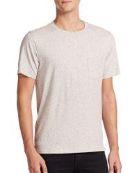 Rag & Bone Tweed-Print Cotton Tee gray - Lyst