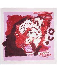 Alexander McQueen Sketch Leopard Print Modal-Silk Scarf - Lyst