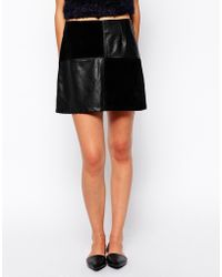 Mink Pink Forever and Ever Skirt in Pu  Faux Suede - Lyst