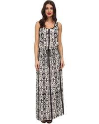 Karen Kane Tribal Print Maxi Dress - Lyst