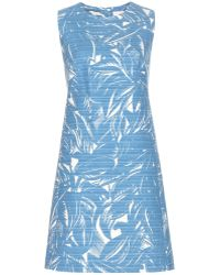 Tory Burch Corded Printed Dress - Lyst