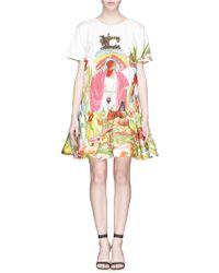 Stella Jean 'Lanario' Caribbean Print Drop Waist Dress - Lyst