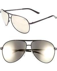 Marc Jacobs Women'S 'Signature' 62Mm Metal Aviator Sunglasses - Blue - Lyst