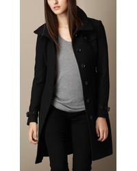 Burberry Single-Breasted Double Wool Twill Trench Coat - Lyst