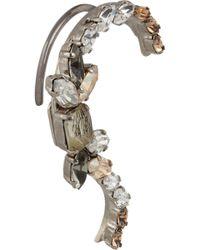 Vickisarge - Speakeasy Palladiumplated Swarovski Crystal Ear Cuff - Lyst