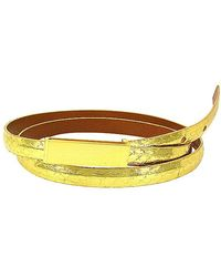 Leighelena - Double Cha Ching Python Licorice Belt - Lyst