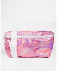 American Apparel Leather Fanny Pack In Metallic Pink - Lyst