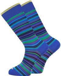 Duchamp - Green Purple Stripe Socks - Lyst