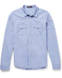 Gucci Slim-fit Chambray Shirt - Lyst
