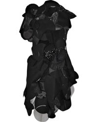Junya Watanabe Patchwork Woolblend Felt Dress - Lyst