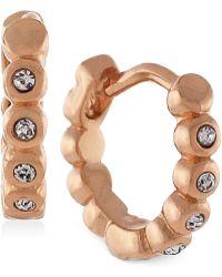 Vince Camuto - Gold-tone Crystal Hoop Earrings - Lyst
