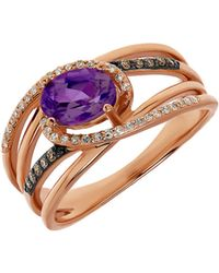 Lord & Taylor - Amethyst, Diamond And 14k Rose Gold Ring - Lyst