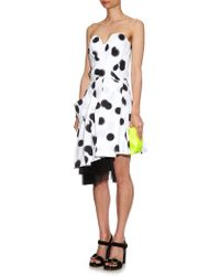 Marc By Marc Jacobs Blurred-Dots Print Strapless Dress - Lyst