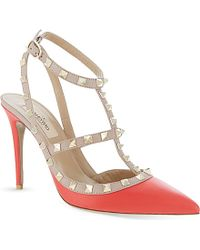Valentino Rockstud 100 Leather Heeled Sandals - Lyst