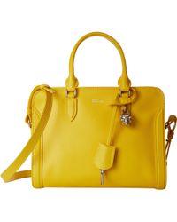 Alexander McQueen Small Padlock Zip yellow - Lyst