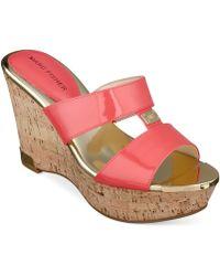 Marc Fisher Willian Platform Wedge Sandals - Lyst