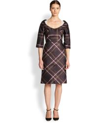 Honor Plaid Portraitneck Dress - Lyst