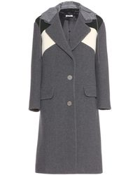 Miu Miu Wool Coat - Lyst