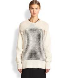 Helmut Lang Gossamer Web Openwork Sweater - Lyst