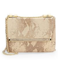 Ivanka Trump - Snake-Embossed Leather Shoulder Bag - Lyst