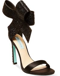 Betsey Johnson Blue By Up Do Evening Sandals - Lyst