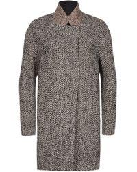 Nicole Farhi | Spray Tweed Wool Cocoon Coat | Lyst