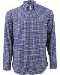 Brunello Cucinelli Check Button Down Shirt - Lyst