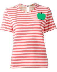 Peter Jensen 'Apple' Striped T-Shirt - Lyst
