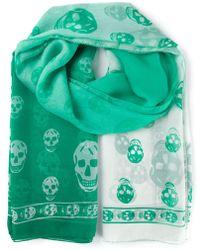 Alexander McQueen Skull Print Scarf - Lyst