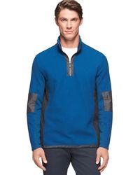 Calvin Klein Mix Media Jacquard 14 Zip Pullover with Hidden Hood - Lyst
