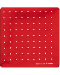 Turnbull & Asser Polka-Dot Pocket Square - For Men red - Lyst