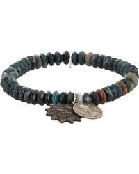 Miracle Icons Mixed Jasper Charm Bracelet - Lyst