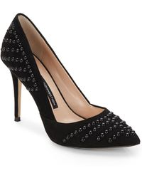 French Connection Elmyra Studded Suede Pumps - Lyst