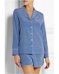 Stella McCartney - Olivia Sleeping Printed Stretch-silk Pyjama Set - Lyst