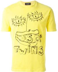 DSquared2 Embroidered T-Shirt - Lyst
