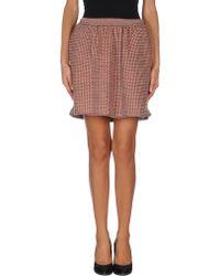 Balenciaga Brown Mini Skirt - Lyst