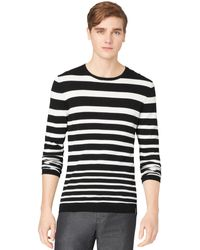Calvin Klein Graduated Stripe Crewneck Sweater - Lyst