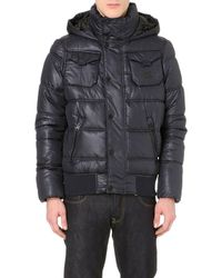 G-star Raw Whistler Hooded Quilted Jacket Mazraine Blue - Lyst