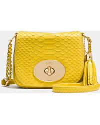 Coach Liv Crossbody In Python Embossed Leather - Lyst