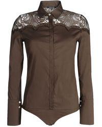 Patrizia Pepe Shirt brown - Lyst