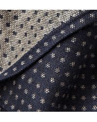 Turnbull & Asser Micro Dotpatterned Cashmere Wool and Silkblend Pocket Square - Lyst